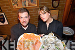 TASTY: Tom Canning and Nita Comerford in Ashes bar, Dingle for the Tasty Trail at the Dingle food fair on Saturday.