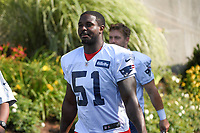 July 27, 2018: New England Patriots running back Sony Michel (51) heads to practice at the New England Patriots training camp held on the practice fields at Gillette Stadium, in Foxborough, Massachusetts. Eric Canha/CSM