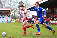 Danny Newton of Stevenage and George Ray of Crewe Alexandra during Stevenage vs Crewe Alexandra, Sky Bet EFL League 2 Football at the Lamex Stadium on 10th March 2018