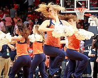 Virginia dancers during the Virginia vs. Duke ACC basketball game Jan. 31, 2015 in Charlottesville, VA. Duke won 69-63.