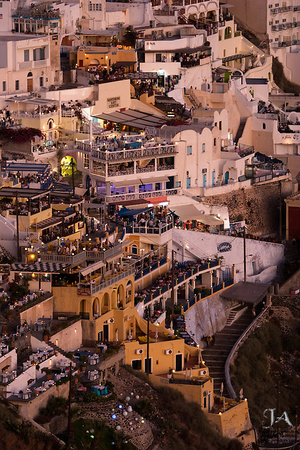 Fira, Santorini, Greece at night