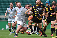 Derek Salisbury of Cheshire takes on the Cornwall defence. Bill Beaumont County Championship Division 1 Final between Cheshire and Cornwall on June 2, 2019 at Twickenham Stadium in London, England. Photo by: Patrick Khachfe / Onside Images