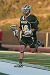 Redondo Beach, CA 05/11/10 - Tanner Sandera (MC # 26) in action during the 2010 Los Angeles Boys Lacrosse championship game, Mira Costa defeated Palos Verdes 12-10 at Redondo Union High School.