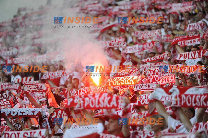 Tifosi Polonia Fans Poland<br /> Marseille 21-06-2016 Stade Velodrome Football Euro2016 Ukraine - Poland  / Ucraina - Polonia Group Stage Group C. Foto Franck Pennant / Panoramic / Insidefoto