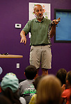 Gabe Kerschner, with Conservation Ambassadors, talks about Steve, a Morelet's crocodile during a special presentation at the Boys &amp; Girls Club of Western Nevada in Carson City, Nev., on Tuesday, June 12, 2018. The program, which also includes an evening show at the library, is part of the Carson City Library's Summer Learning Challenge. <br /> Photo by Cathleen Allison/Nevada Momentum