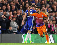 sergio Aguero of Manchester City celebrates after scoring during the Premier League match between Chelsea and Manchester City at Stamford Bridge on April 5th 2017 in London, England.<br /> Foto PHC Images / Panoramic / Insidefoto <br /> ITALY ONLY