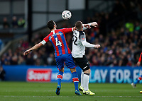 5th January 2020; Selhurst Park, London, England; English FA Cup Football, Crystal Palace versus Derby County; Wayne Rooney of Derby County challenges Luka Milivojevic of Crystal Palace - Strictly Editorial Use Only. No use with unauthorized audio, video, data, fixture lists, club/league logos or 'live' services. Online in-match use limited to 120 images, no video emulation. No use in betting, games or single club/league/player publications