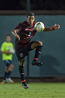 STANFORD, CA - August 19, 2014: Brandon Vincent during the Stanford vs CSU Bakersfield men's exhibition soccer match in Stanford, California.  Stanford won 1-0.