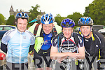 Shane O'Kelly, Simon Wale, Mick Sheridan and Pat O'Callaghan preparing for the Ring of Kerry cycle in Killarney Saturday morning.