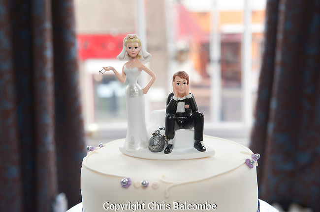 The wedding of Mike and Debbie, at the Dolphin Hotel in Southampton, Hampshire<br /> Pic: Chris Balcombe..07568 098176