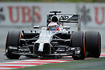 McLaren's driver Jason Button drives during a race at the Circuit de Catalunya on May 11, 2014. <br /> PHOTOCALL3000/PD