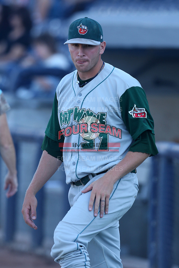 Fort Wayne TinCaps Jerry Sullivan during a game vs. the West Michigan Whitecaps at Fifth Third Field in Comstock Park, Michigan August 18, 2010.   Fort Wayne defeated West Michigan 5-1.  Photo By Mike Janes/Four Seam Images