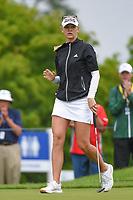 Jessica Korda (USA) sinks her birdie putt on 2 during round 4 of the KPMG Women's PGA Championship, Hazeltine National, Chaska, Minnesota, USA. 6/23/2019.<br /> Picture: Golffile | Ken Murray<br /> <br /> <br /> All photo usage must carry mandatory copyright credit (© Golffile | Ken Murray)
