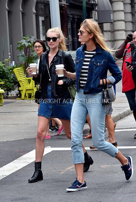 www.acepixs.com<br /> <br /> September 16 2016, New York City<br /> <br /> Model Elsa Hosk (L) went out in Tribeca on September 16 2016 in New York City<br /> <br /> By Line: Curtis Means/ACE Pictures<br /> <br /> <br /> ACE Pictures Inc<br /> Tel: 6467670430<br /> Email: info@acepixs.com<br /> www.acepixs.com