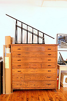 rustic wooden chest of drawers