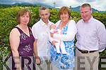 Baby Ella O'Connell, Kilcummin, pictured with her parents Alan and Lorraine and godparents Mary O'Connell and Brendan Hannon after she was christened in Our Lady of Lourdes church, Kilcummin, and celebrated afterwards in the Heights Hotel, Killarney. ..
