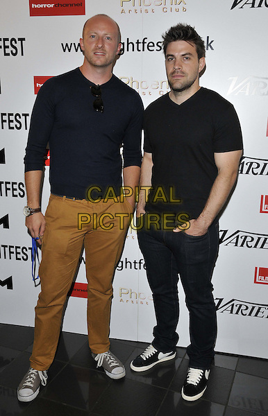 LONDON, ENGLAND - AUGUST 24: Ben Loyd-Holmes &amp; Daniel Caren attend the &quot;Extinction ( aka The Expedition )&quot; UK film premiere, Film4 FrightFest day 4, Vue West End cinema, Leicester Square, on Sunday August 24, 2014 in London, England, UK. <br /> CAP/CAN<br /> &copy;Can Nguyen/Capital Pictures