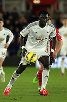 Pictured: Bafetimbi Gomis of Swansea Sunday 01 February 2015<br /> Re: Premier League Southampton v Swansea City FC at ST Mary's Ground, Southampton, UK.