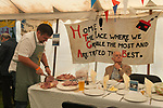 Harvest Home, East Brent, Somerset Uk 2018. Harvest Home celebrates the end of the harvest with a village communal meal. East Brent&rsquo;s Harvest Home has been taking place since 1857. It was started by Archdeacon Denison, the vicar for 51 years of St Mary's Church of the Blessed Virgin together with Churchwarden John Higgs. It is the oldest Harvest Home in Somerset. <br />
