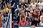 23.08.2018, Sporthalle Berg Fidel, Muenster<br />Volleyball, LŠnderspiel / Laenderspiel, Deutschland vs. Niederlande<br /><br />Angriff Louisa Lippmann (#11 GER)<br /><br />  Foto &copy; nordphoto / Kurth