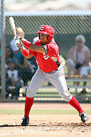 Henry Rodriguez, Cincinnati Reds 2010 minor league spring training..Photo by:  Bill Mitchell/Four Seam Images.