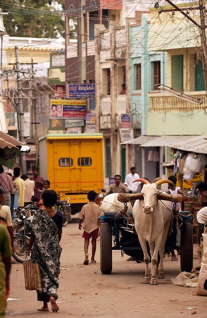 a street scene in Tamil Nadu, India