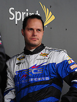 Feb 22, 2009; Fontana, CA, USA; NASCAR Sprint Cup Series driver David Gilliland during the Auto Club 500 at Auto Club Speedway. Mandatory Credit: Mark J. Rebilas-