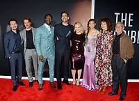 """LOS ANGELES, CA: 24, 2020: Leigh Whannell, Michael Dorman, Aldis Hodge, Oliver Jackson-Cohen, Elisabeth Moss, Storm Reid, Donna Langley & Ron Meyer at the premiere of """"The Invisible Man"""" at the TCL Chinese Theatre.<br /> Picture: Paul Smith/Featureflash"""
