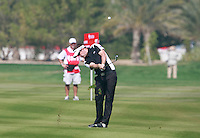 Richie Ramsay (SCO) in action on the 2nd hole during Saturday's Round 3 of the HSBC Golf Championship at the Abu Dhabi Golf Club, United Arab Emirates, 28th January 2012 (Photo Eoin Clarke/www.golffile.ie)