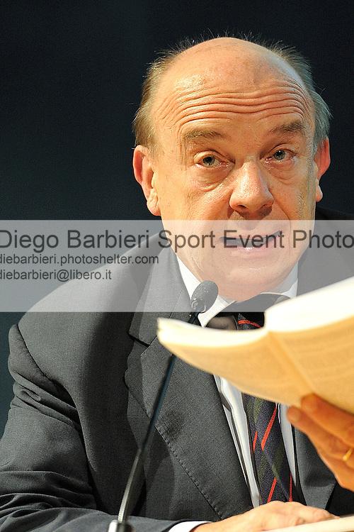 (KIKA) - TORINO - 17/05/2013 A Torino si tiene il 26° Salone del Libro con esposizioni, dibattiti e grandi ospiti, al salone del Lingotto. Gustavo Zagrebelsky