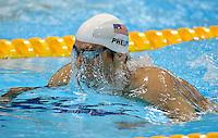 LONDRES, INGLATERRA, 28 JULHO 2012 - 400m MEDLEY - O nadador norte-americano Michael Phels dos Estados Unidos, durante os 400m Medley nas Olimpiadas de Londres, neste sabado. (FOTO: PIXATHLON / BRAZIL PHOTO PRESS).