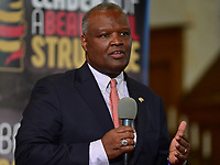 Baltimore, MD - June 2, 2018: Prince George's County, MD Executive Rushern Baker participates in a forum with democrat candidates for Maryland Governor at the New Waverly United Methodist Church in Baltimore, Maryland June 2, 2018. Leaders of a Beautiful Struggle sponsored the forum. (Photo by Don Baxter/Media Images International)