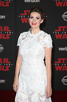LOS ANGELES, CA - DECEMBER 9: Carly Steel, at Premiere Of Disney Pictures And Lucasfilm's 'Star Wars: The Last Jedi' at Shrine Auditorium in Los Angeles, California on December 9, 2017. Credit: Faye Sadou/MediaPunch /NortePhoto.com NORTEPHOTOMEXICO