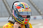 Ryan Hunter-Reay (1) in action during qualifying for the IZOD Indycar Firestone 550 race at Texas Motor Speedway in Fort Worth,Texas.