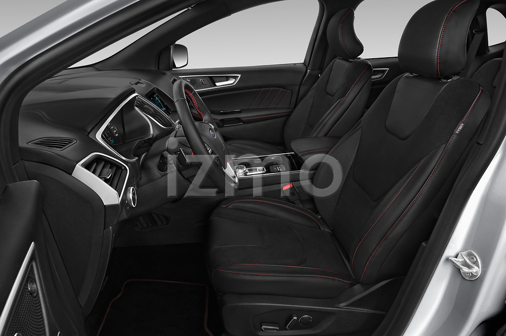 Front seat view of a 2019 Ford Edge ST Line 5 Door SUV front seat car photos