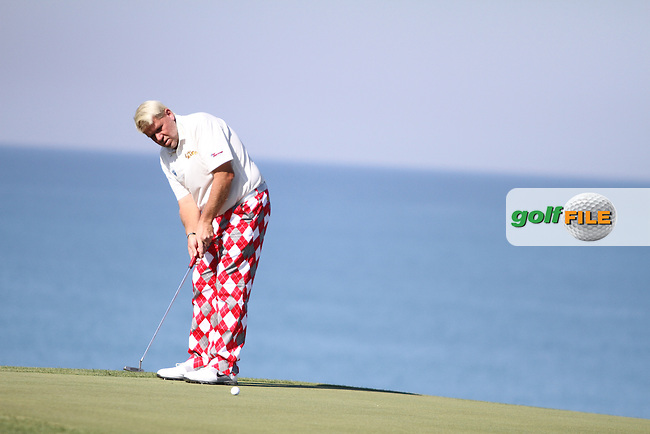 John Daly (USA) on the 18th on the 1st Day of the 2012 Sicilian Open at Verdura Golf and Spa Resort...(Photo Jenny Matthews/www.golffile.ie)