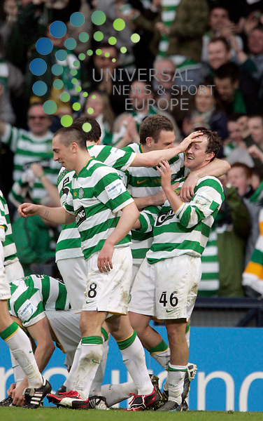 Aiden McGeady scores after a penalty during the Co-operative Insurance cup final 2009 Celtic v Rangers FC at Hampden park, Glasgow.Picture: Universal News and Sport - 15/03/2009.............. ........... .