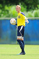 2 October 2011:  FIU goal keeper Rodney Greiling (00) signals to teammates in the first half as the FIU Golden Panthers defeated the University of Kentucky Wildcats, 1-0 in overtime, at University Park Stadium in Miami, Florida.