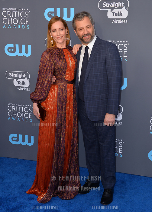 Judd Apatow &amp; Leslie Mann at the 23rd Annual Critics' Choice Awards at Barker Hangar, Santa Monica, USA 11 Jan. 2018<br /> Picture: Paul Smith/Featureflash/SilverHub 0208 004 5359 sales@silverhubmedia.com