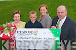 JULY'S WINNER: Breda O'Sullivan, O'Connell Street, Caherciveen winner of the Lee Strand EUR5,000 prize for July being presented with the cheque by Jerry O'Dwyer (Production Manager) on Tuesday l-r: Breda O'Sullivan, Mark and Martina O'Shea with Jerry O'Dwyer.   Copyright Kerry's Eye 2008