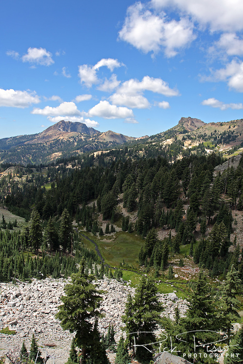 Mount Diller and Brokeoff Mountain in Lassen Volcanic National Park.