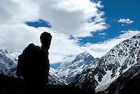 The statue of Sir Edmund Hillary at the Sir Edmund Hillary Alpine Center Located adjacent to The Hermitage Hotel in New Zealand's majestic Aoraki Mount Cook National Park, permanently gazes towards New Zealand's highest peak, Aoraki Mount Cook.