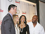 Shortstop Jimmy Rollins and wife Johari pose with Philadelphia Phillies Pitcher Cole Hamels and wife Heidi who head the Hamels Foundation as it presents Diamonds & Denim on August 27, 2012 at the Crystal Tea Room, Philadelphia, Pennsylvania.  (Photo by Sue Coflin/Max Photos)