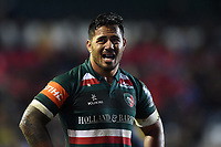Manu Tuilagi of Leicester Tigers looks dejected after the match. European Rugby Champions Cup match, between Leicester Tigers and Munster Rugby on December 17, 2017 at Welford Road in Leicester, England. Photo by: Patrick Khachfe / JMP