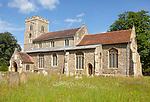 Village parish church of All Saints, Sproughton, Suffolk, England, UK