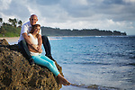Pre-marriage images of Josh and DeAnna at Laie Hawaii Temple and Temple Beach early morning on June 15, 2014.