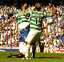20/08/2005         Copyright Pic : James Stewart.File Name : jspa24 rangers v celtic.REF STUART MCDOUGAL GIVES A PENALTY AS DADO PRSO IS BUNDLED OFF THE BALL....Payments to :.James Stewart Photo Agency 19 Carronlea Drive, Falkirk. FK2 8DN      Vat Reg No. 607 6932 25.Office     : +44 (0)1324 570906     .Mobile   : +44 (0)7721 416997.Fax         : +44 (0)1324 570906.E-mail  :  jim@jspa.co.uk.If you require further information then contact Jim Stewart on any of the numbers above.........