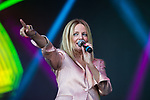 © Joel Goodman - 07973 332324. 05/08/2017 . Macclesfield , UK . CLARE GROGAN of Altered Images  performs at the Rewind Festival , celebrating 1980s music and culture , at Capesthorne Hall in Siddington . Photo credit : Joel Goodman