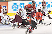 Cory Schneider, Stephen Gionta, Ryan Ginand, Peter Harrold, Joe Vitale, Brett Motherwell, Brian Boyle, Chuck Tomes - The Boston College Eagles defeated the Northeastern University Huskies 5-2 in the opening game of the 2006 Beanpot at TD Banknorth Garden in Boston, MA, on February 6, 2006.