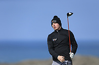 Alan Fahy (MU) during the final of the Irish Students Amateur Open Championship, Tralee Golf Club, Tralee, Co Kerry, Ireland. 12/04/2018.<br /> Picture: Golffile | Fran Caffrey<br /> <br /> <br /> All photo usage must carry mandatory copyright credit (&copy; Golffile | Fran Caffrey)